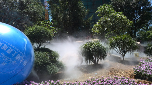 房地产人造雾厂家/人造雾降温设备/深圳宏日环保科技有限公司