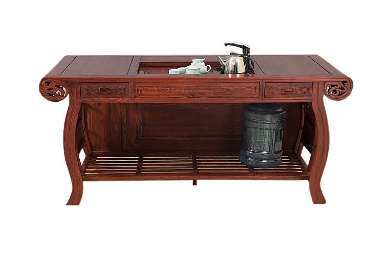 中山三龙红木家具 本产品是真龙茶台,6件套,规格为